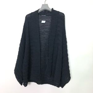 EILEEN FISHER ORGANIC COTTON BLACK RIBBED   s/M